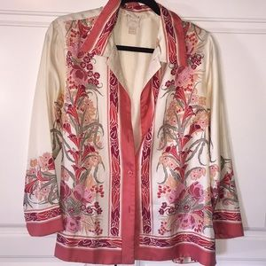 Plenty by Tracy Reese floral silk shirt